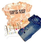 Custom Bleached Country Roads PEACH